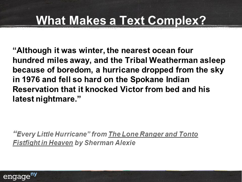 What Makes a Text Complex.
