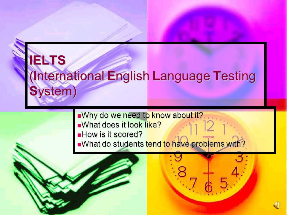 Speaking Test Sections 1.