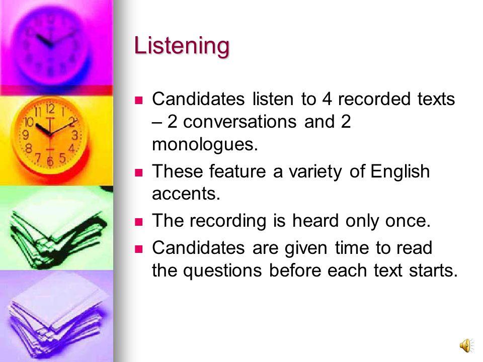 1st Test (40 minutes) Listening