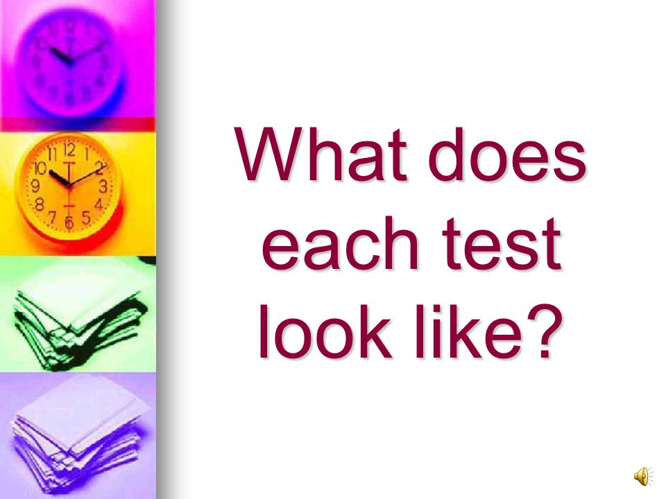 Academic Format Test Components and Times 1. Listening – 40 mins 2.