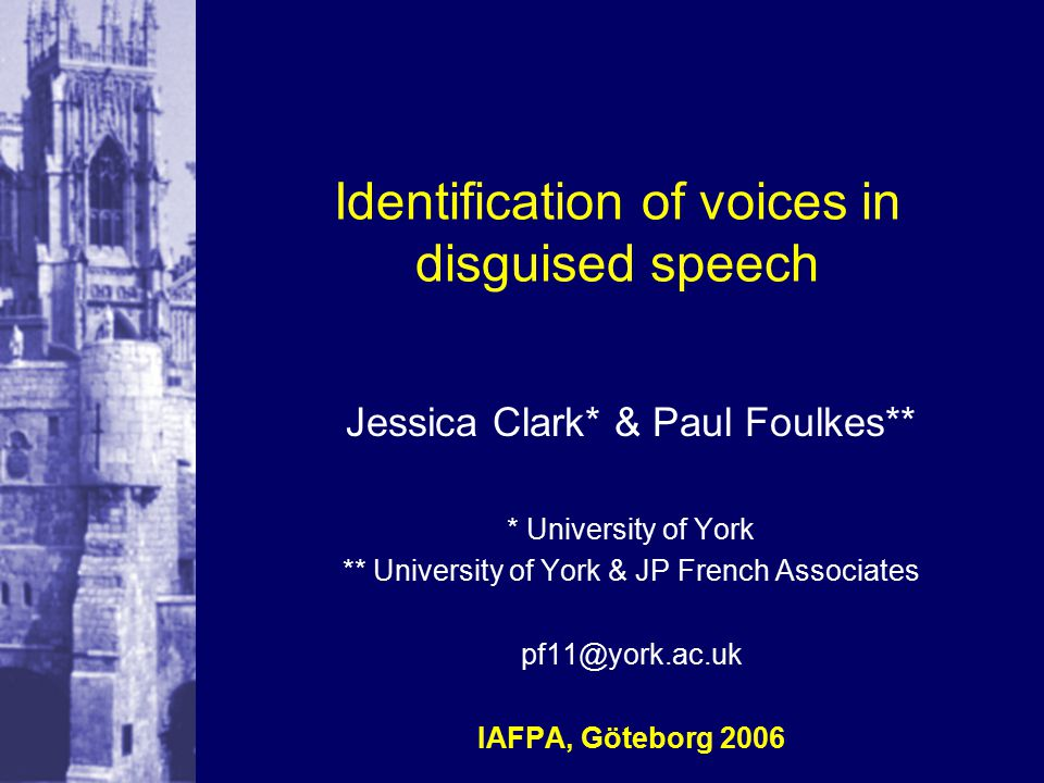 12 1.3 disguise in our study we chose not to use real voice changers, in favour of total control over effects pitch shift chosen as a universal function