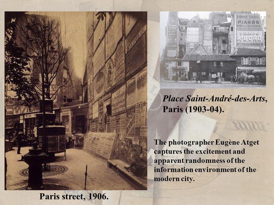 Eugène Atget. Paris Street (1925).