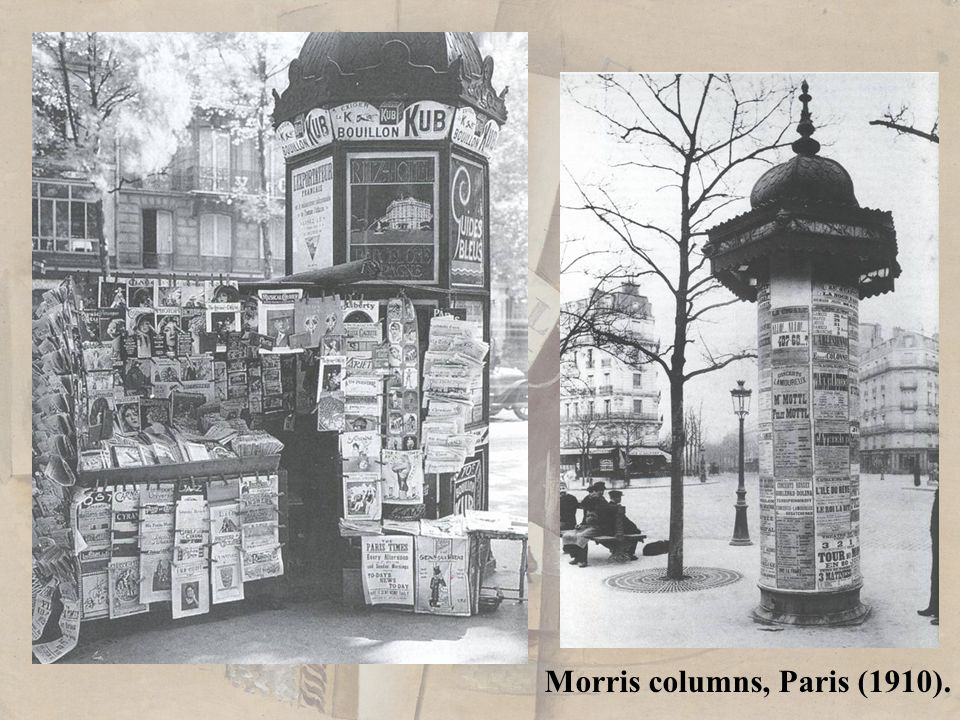 Newstand, Paris, before 1914