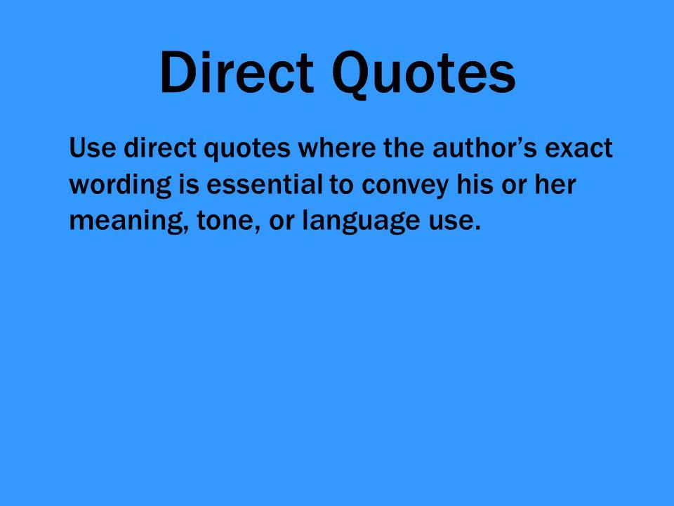 Define direct quotation