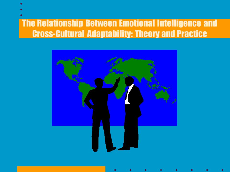 Purpose The purpose of this study was to investigate the relationship between Cross-Cultural Adaptability and Emotional Intelligence to determine if there are definable and measurable characteristics of cross-cultural effectiveness.