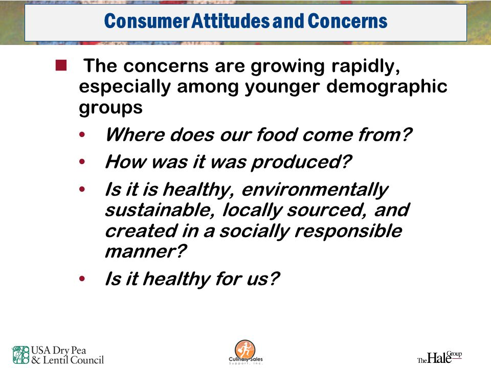 34 The concerns are growing rapidly, especially among younger demographic groups Where does our food come from? How was it was produced? Is it is heal