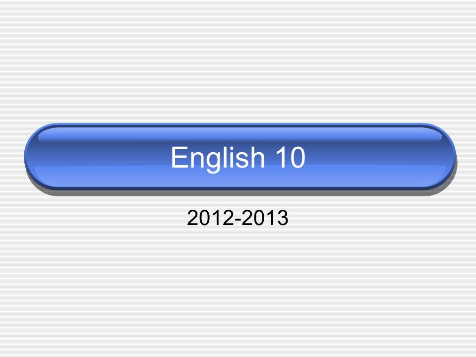 English 10 2012-2013