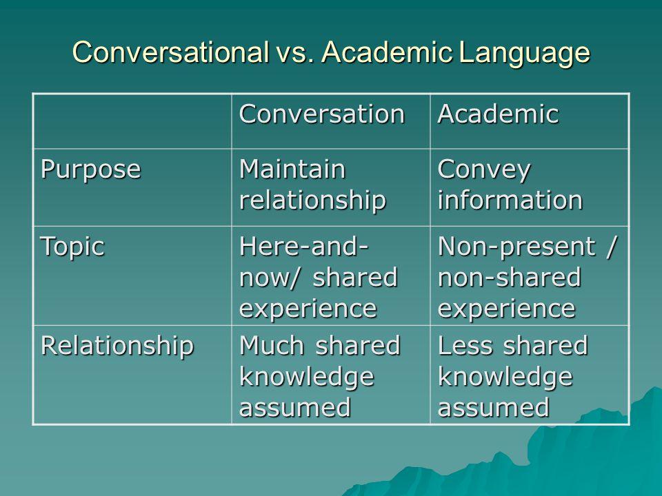 Conversational vs.