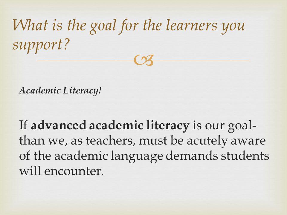  Academic Literacy.