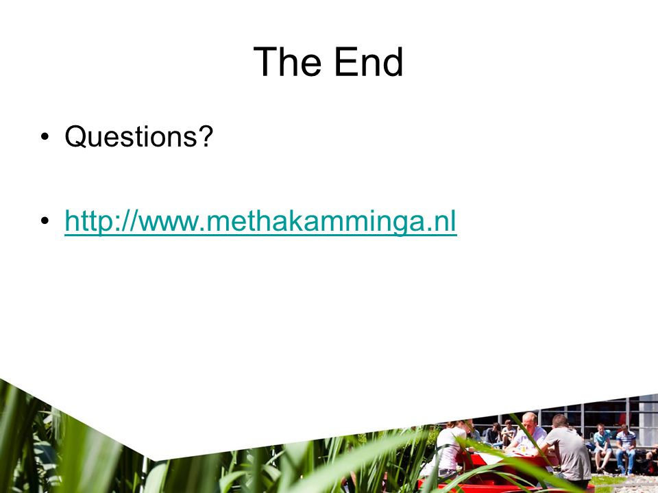The End Questions http://www.methakamminga.nl