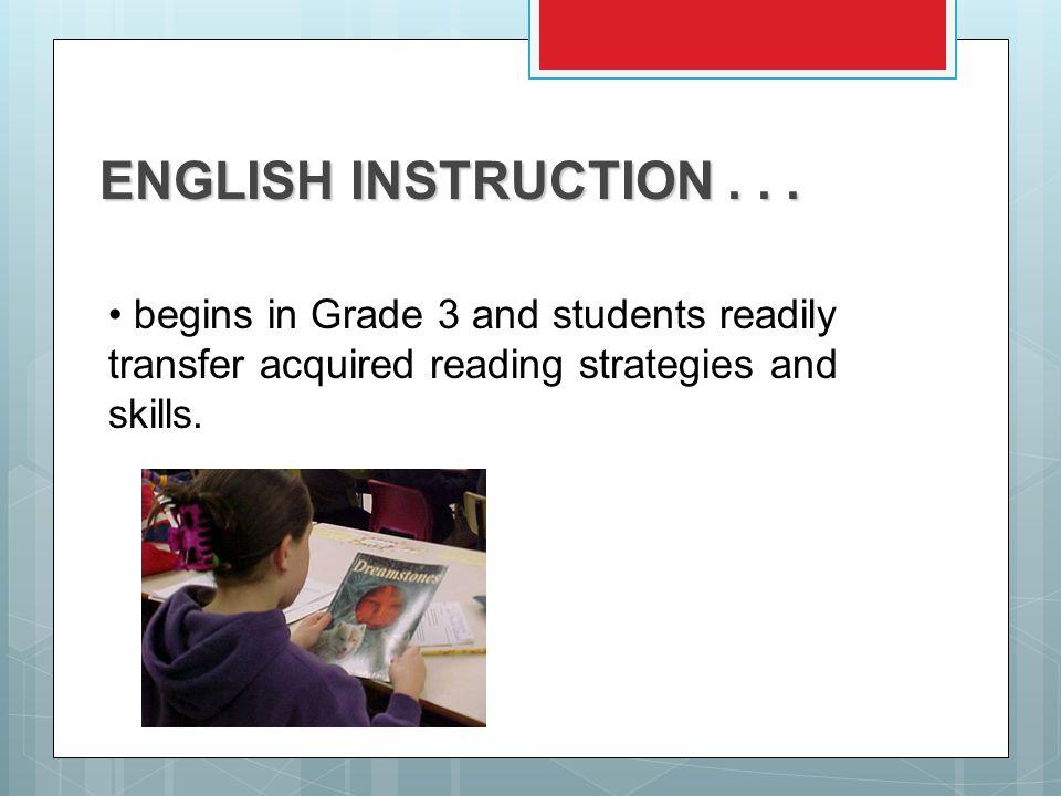 ENGLISH INSTRUCTION...