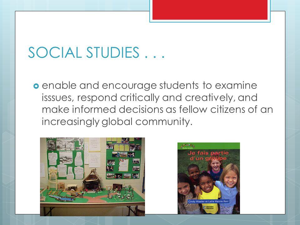 SOCIAL STUDIES...