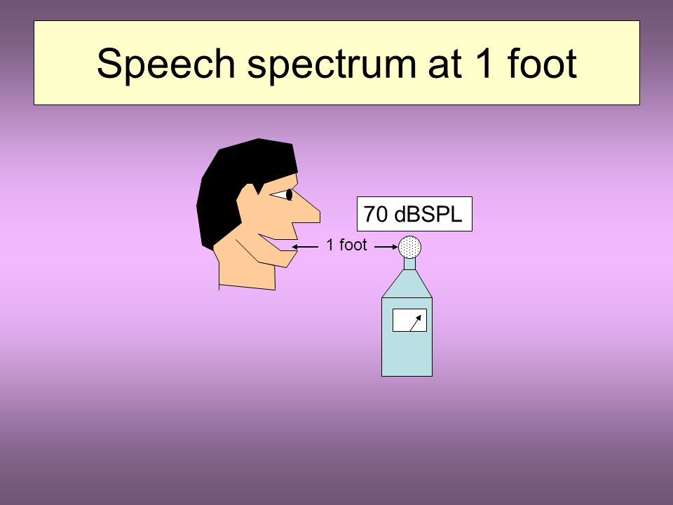 1. The spectral distribution of useful information in the original speech signal