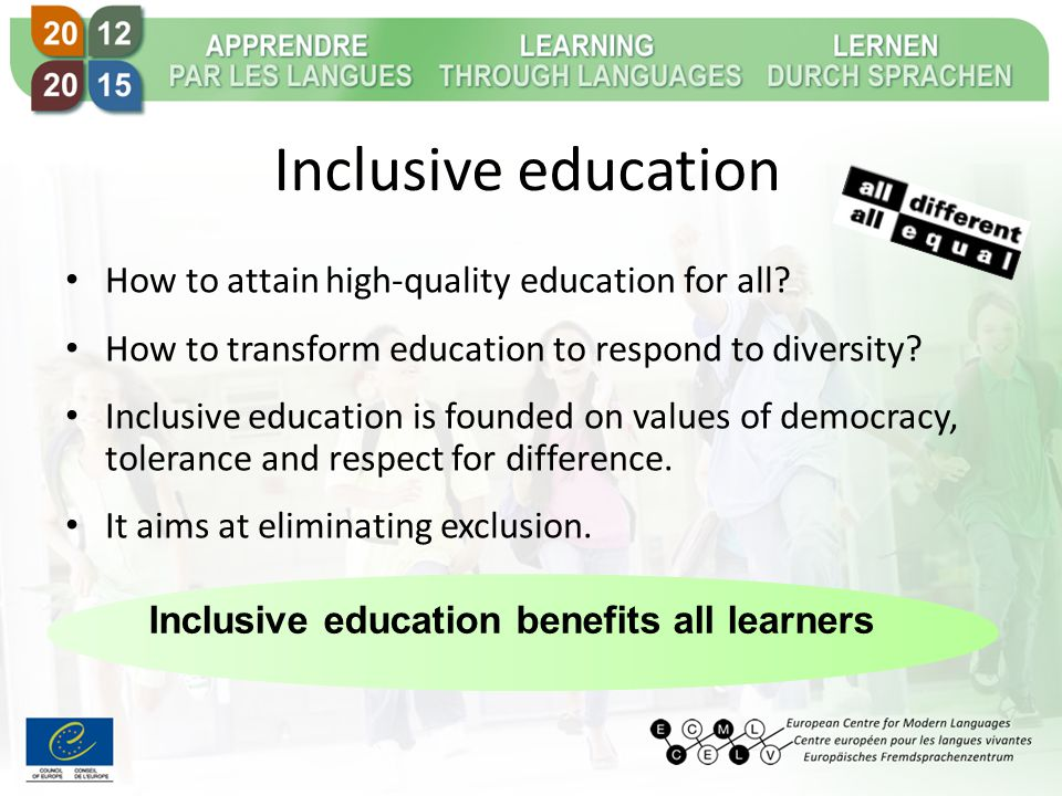 Inclusive education How to attain high-quality education for all.