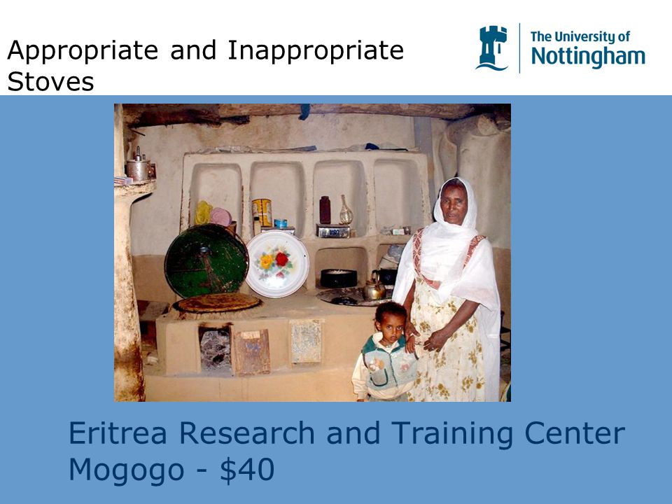 Eritrea Research and Training Center Mogogo - $40 Appropriate and Inappropriate Stoves
