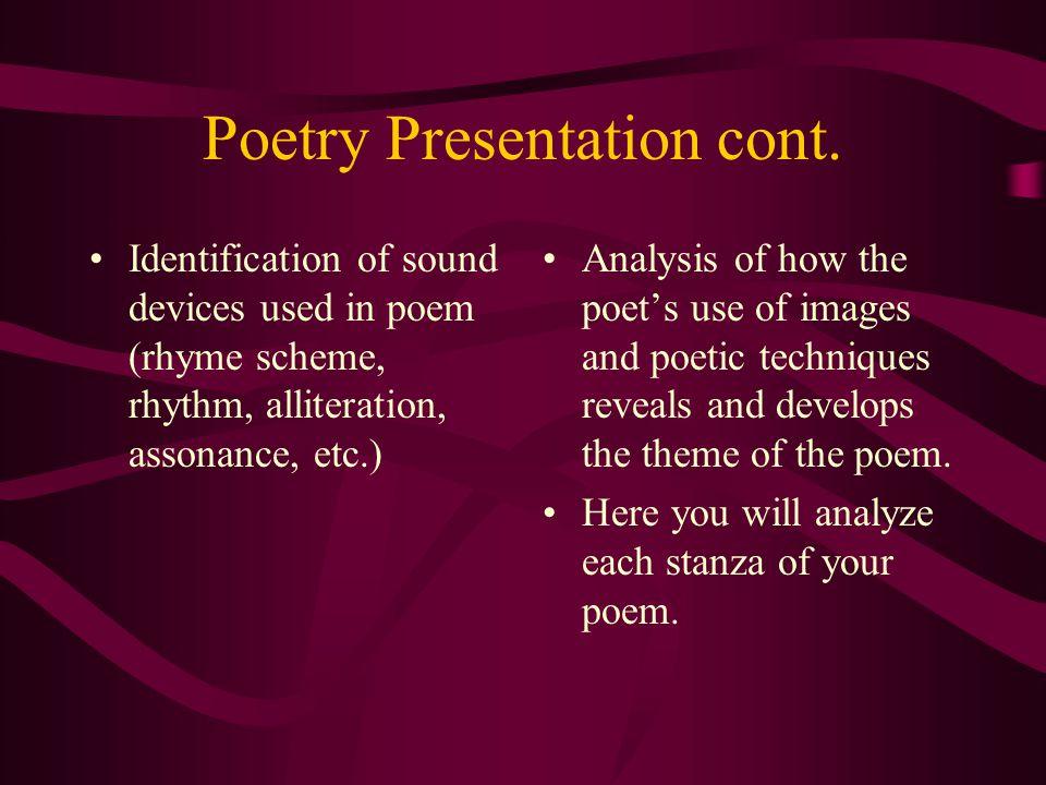 Poetry Presentation cont.