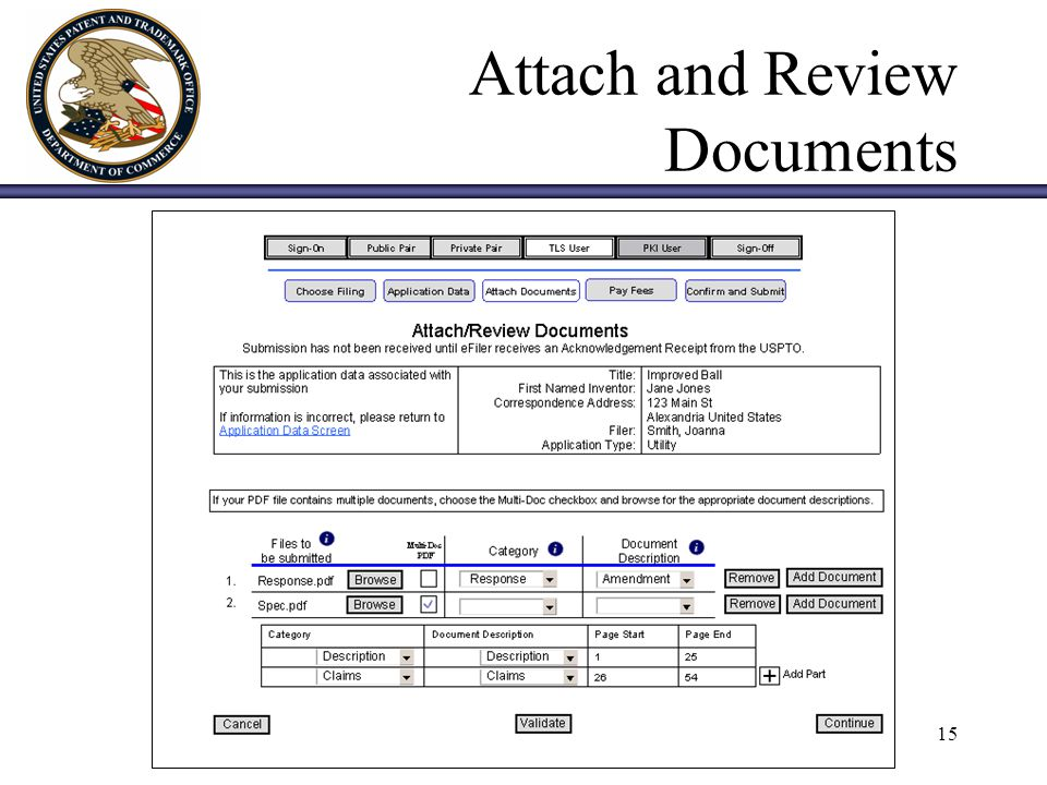 15 Attach and Review Documents