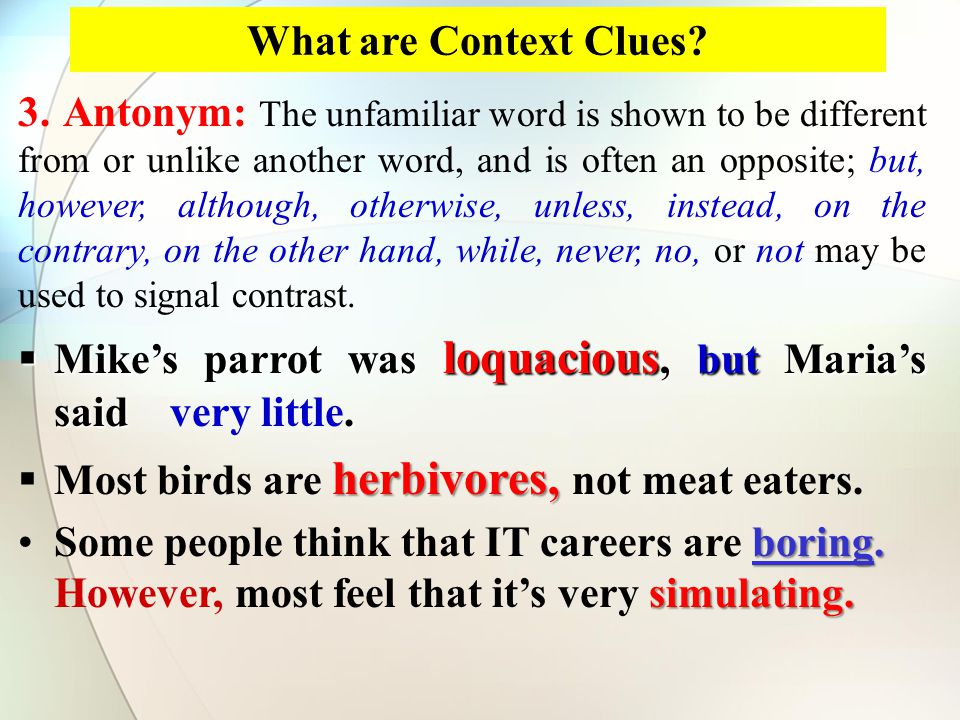 What are Context Clues.4.