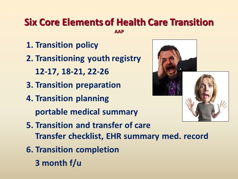 Six Core Elements of Health Care Transition AAP 1.