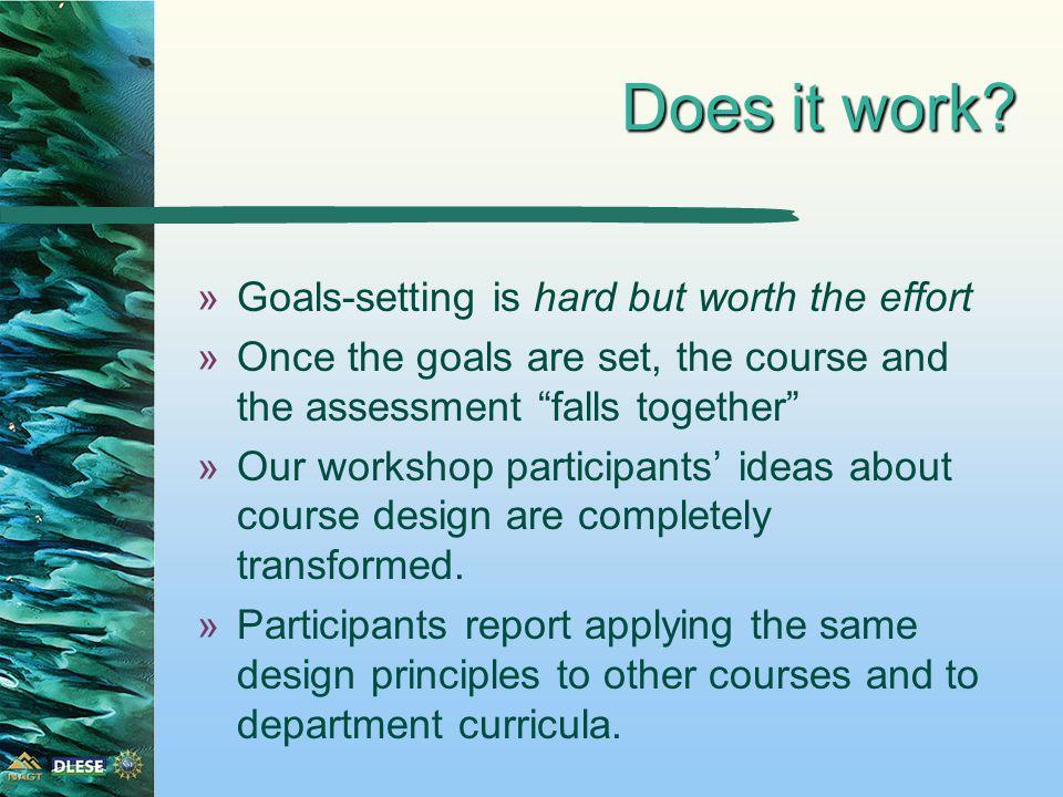 An aside on terminology »Design model is goals-focused »Terminology: goals vs.