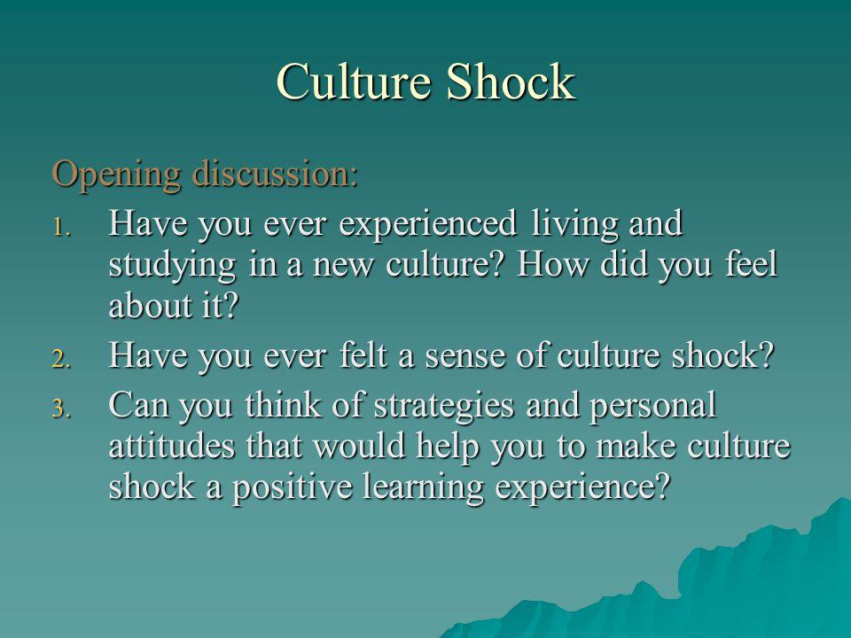 Understanding and Managing Culture Shock