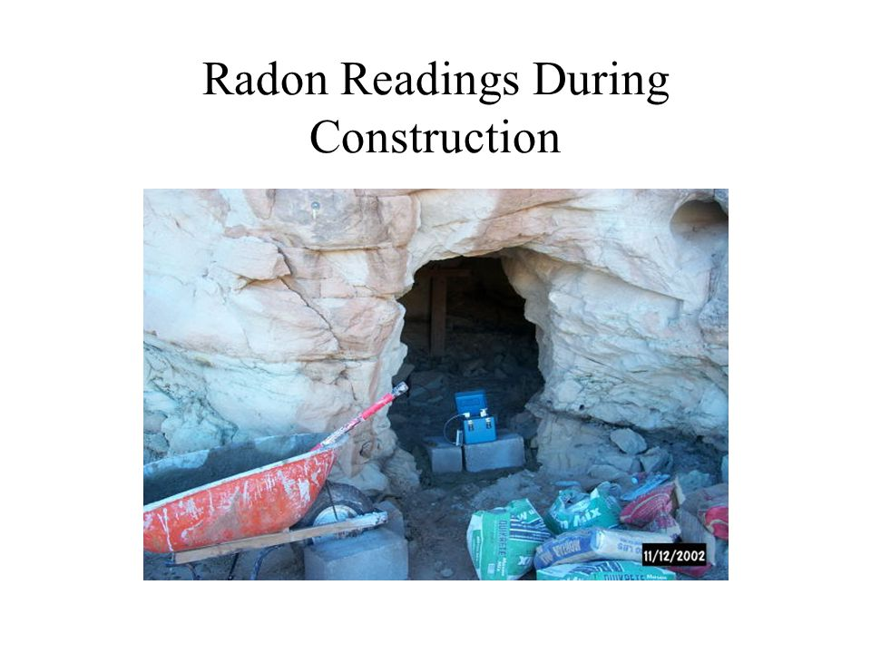 Radon Readings During Construction