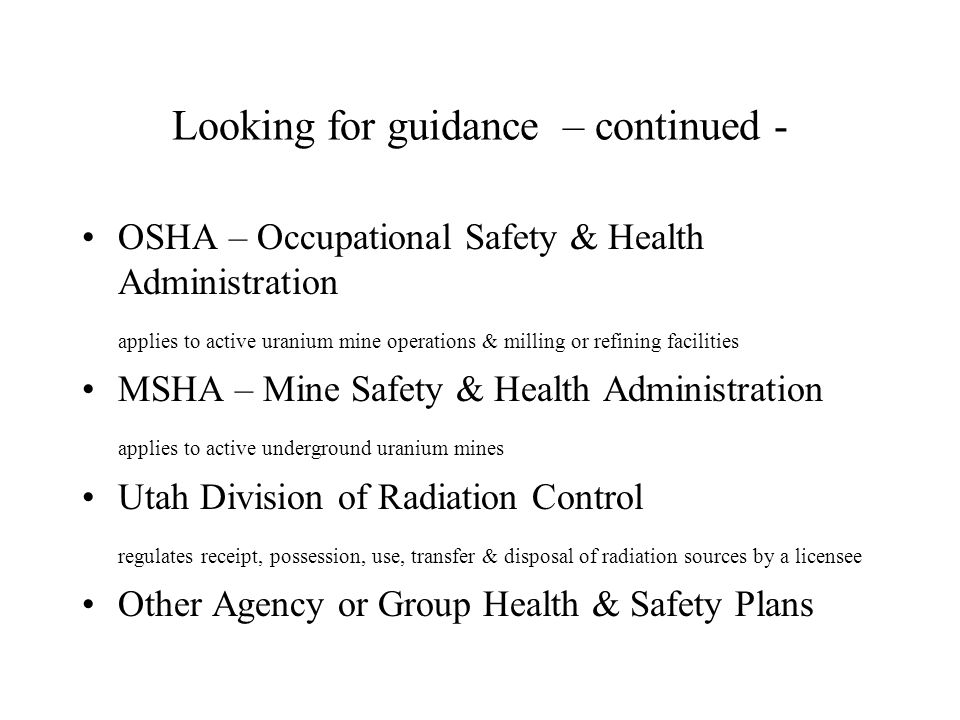 Other Health & Safety Plans University of Utah radiation safety policy manual Health Physics and Instrumentation Monitoring Plan of the Navajo Nation AML Reclamation Department, Division of Natural Resources, Window Rock, Arizona