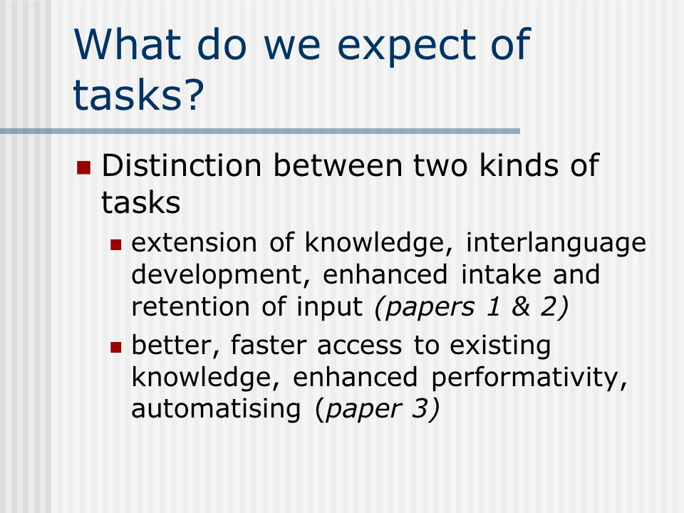 How can we sequence tasks.What makes a task difficult or easy.