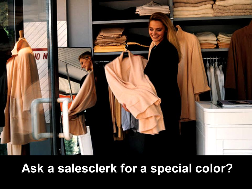 RPDP Secondary Literacy Ask a salesclerk for a special color