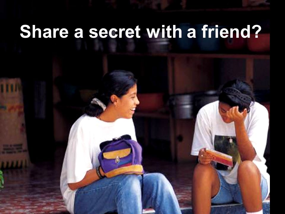 RPDP Secondary Literacy Share a secret with a friend