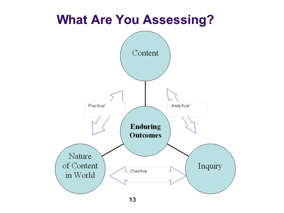 What Are You Assessing? 13