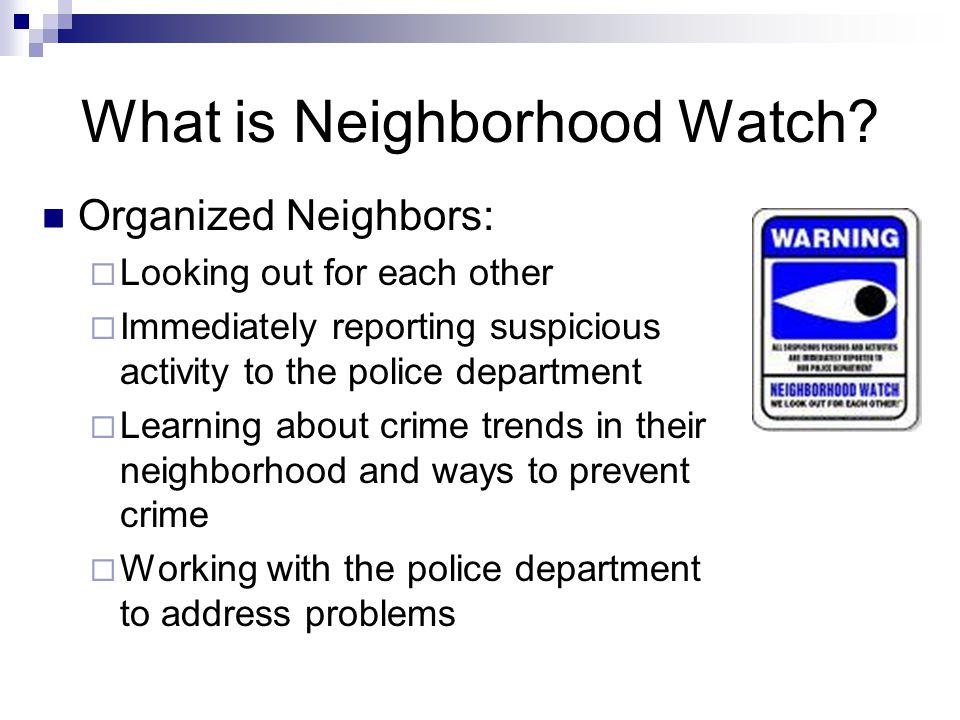 Neighborhood Watch Richland Police Department