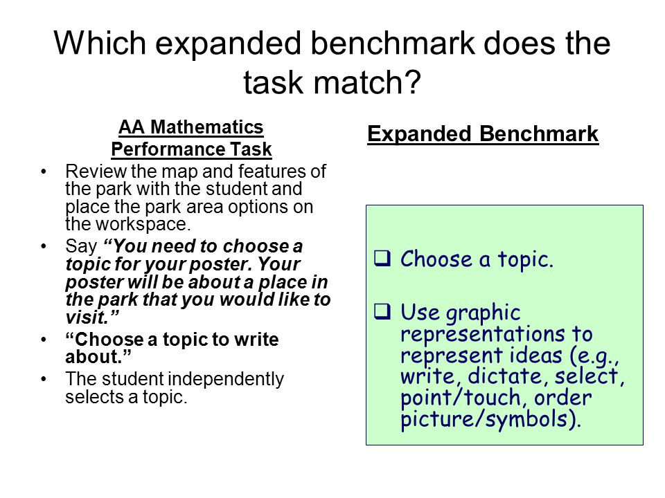 Which expanded benchmark does the task match.