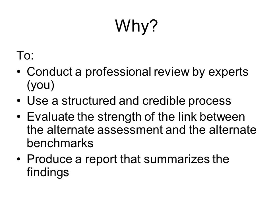 We have Two Purposes (1)Good Assessment Practice: An Alignment Study Helps Document Validity Of Score Interpretations.