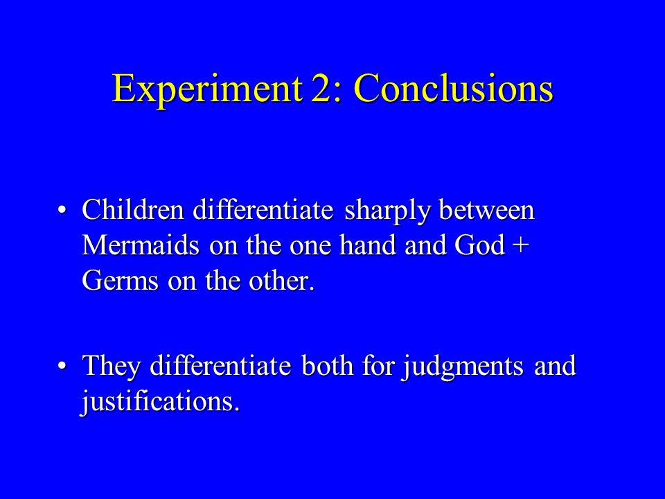 Experiment 2: Justifications