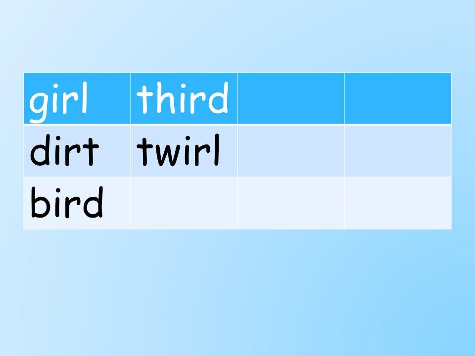 girlthird dirttwirl bird