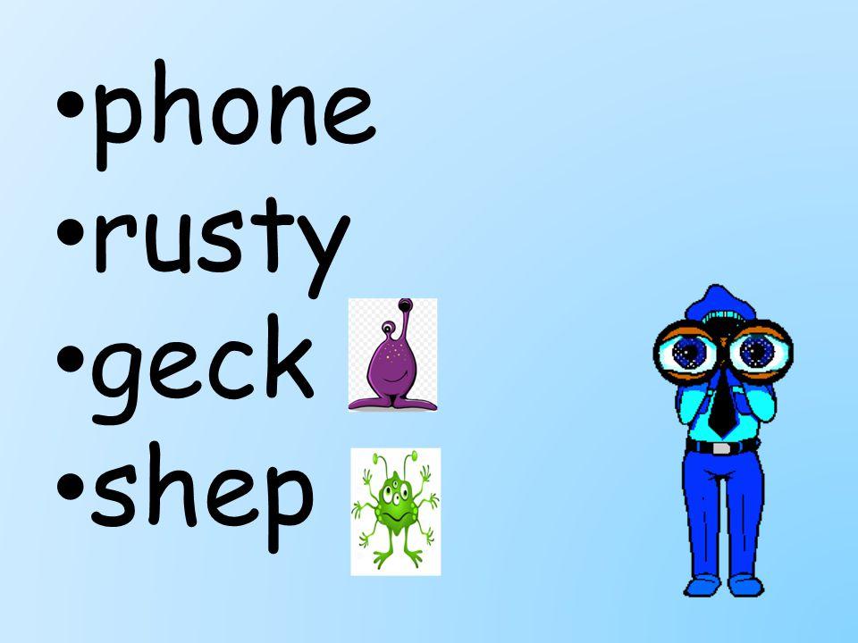 phone rusty geck shep