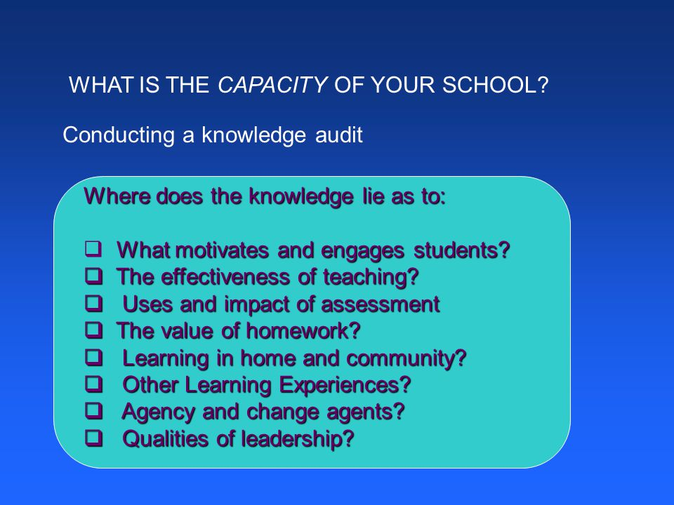 WHAT IS THE CAPACITY OF YOUR SCHOOL.
