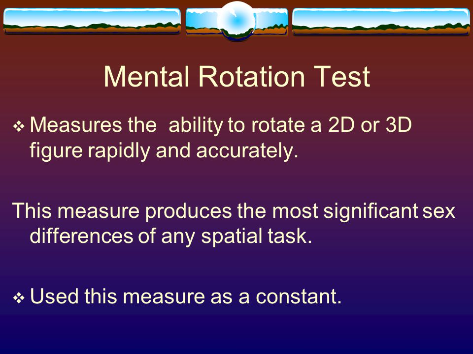 Mental Rotation Exercise