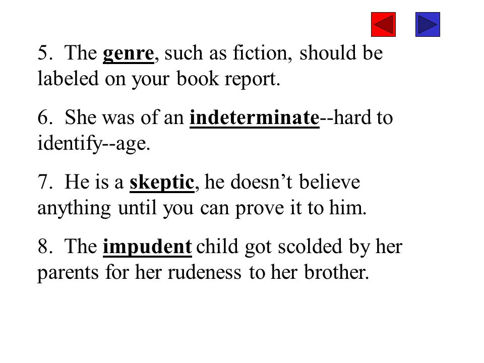 5.The genre, such as fiction, should be labeled on your book report.