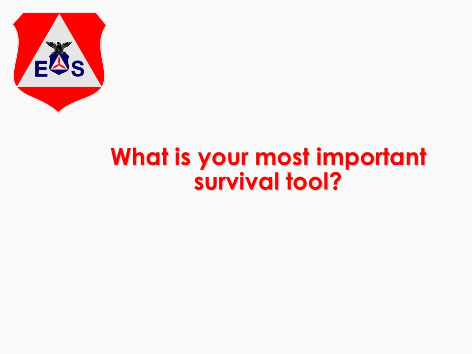 What is your most important survival tool?
