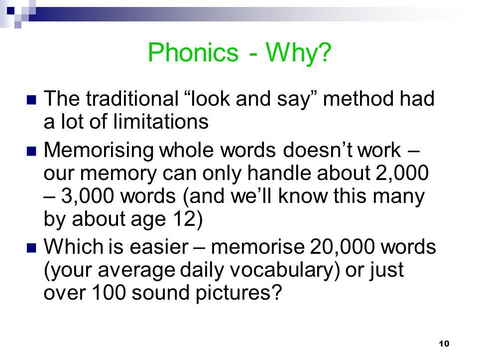 Phonics - Why.