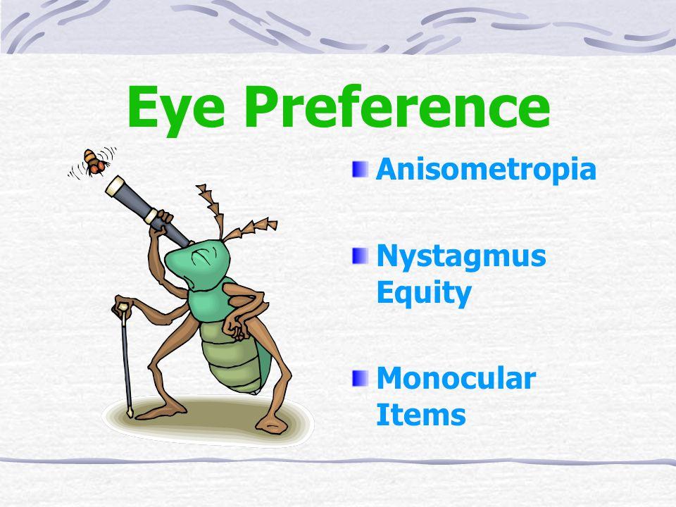 Eye Preference Anisometropia Nystagmus Equity Monocular Items