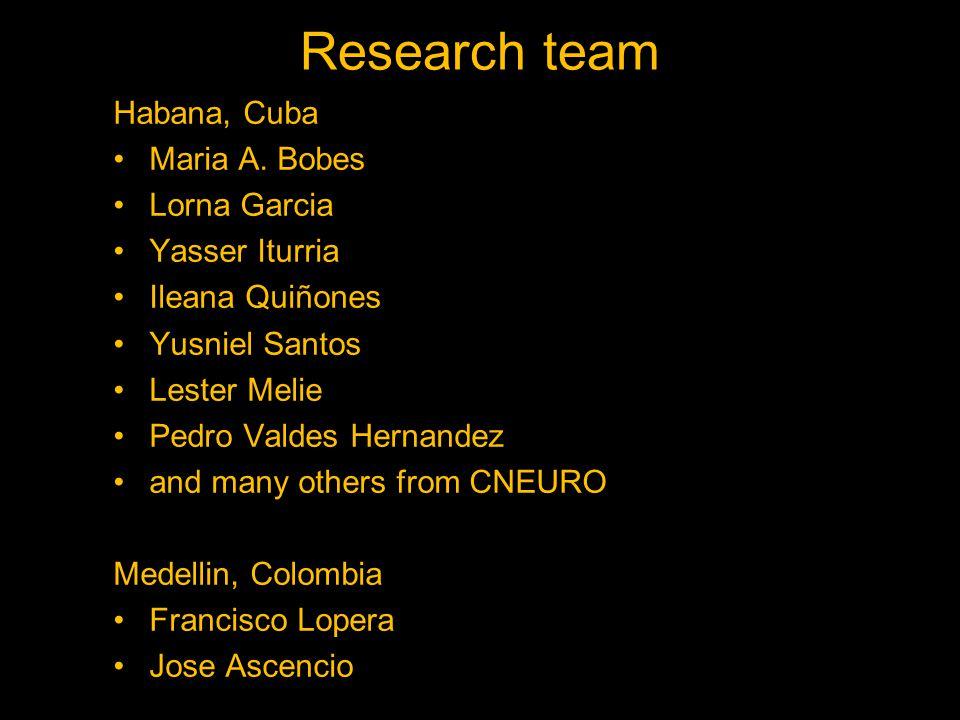 Research team Habana, Cuba Maria A.