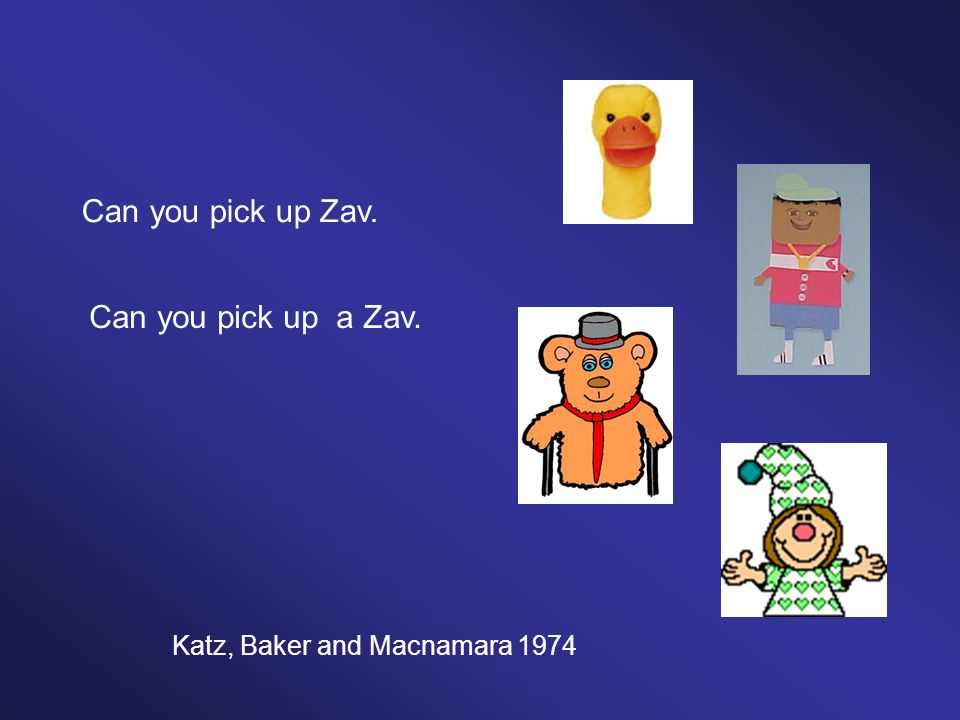 Can you pick up Zav. Can you pick up a Zav. Katz, Baker and Macnamara 1974