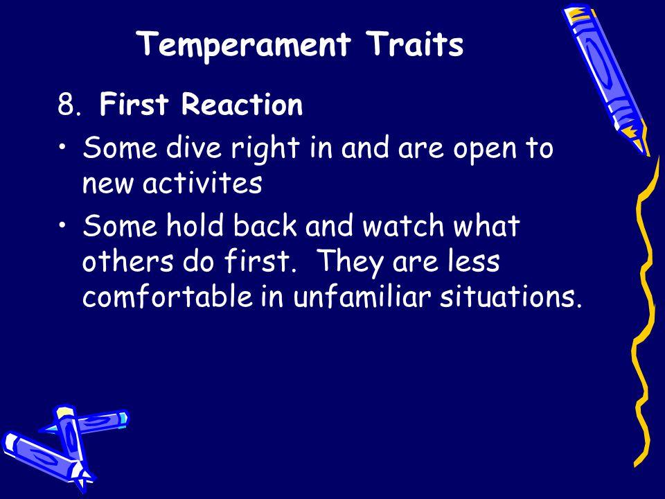 Temperament Traits 8.