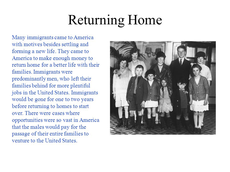 Discrimination Some people opposed immigration to the United States during the late 19th century.