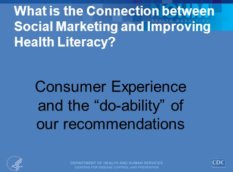 What is the Connection between Social Marketing and Improving Health Literacy.