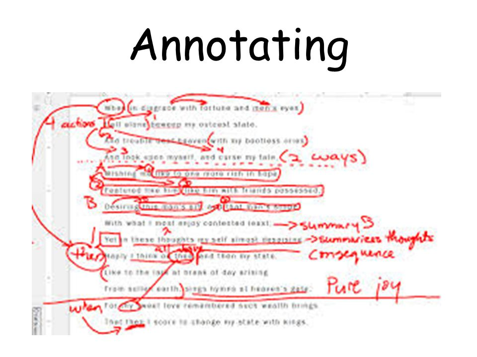 Annotating