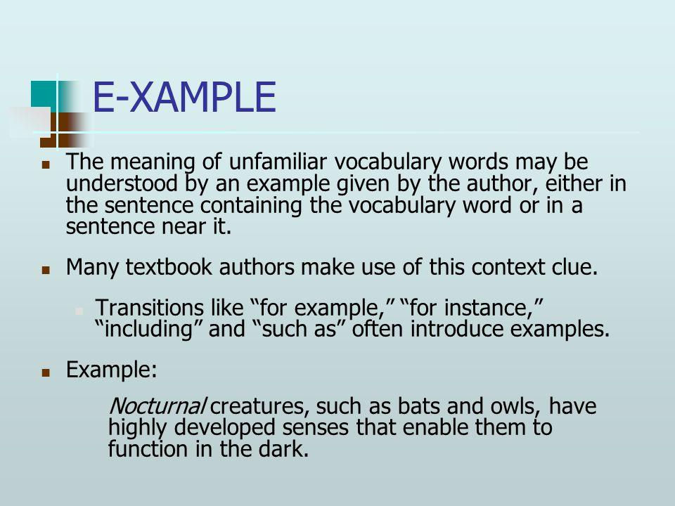 Assignment Vocabulary Word Study sentences: Create sentences using the vocab words.